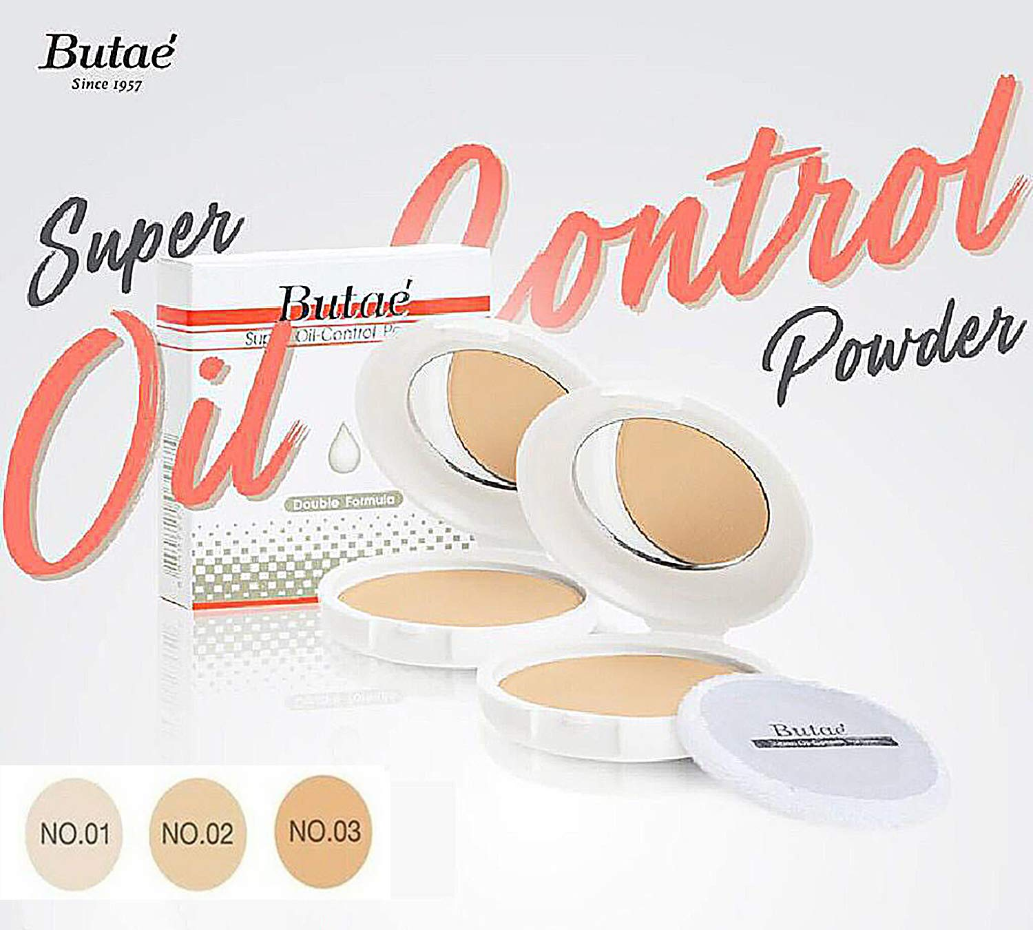 Super Oil Control Face Compact Foundation Powder loose Translucent Perfect Skin Smooth Radiance Oil-free Pressed Soft Beige Lightweight long-lasting Spf25 Sun Protect & Makeup Matte 0.50 Oz (14g)