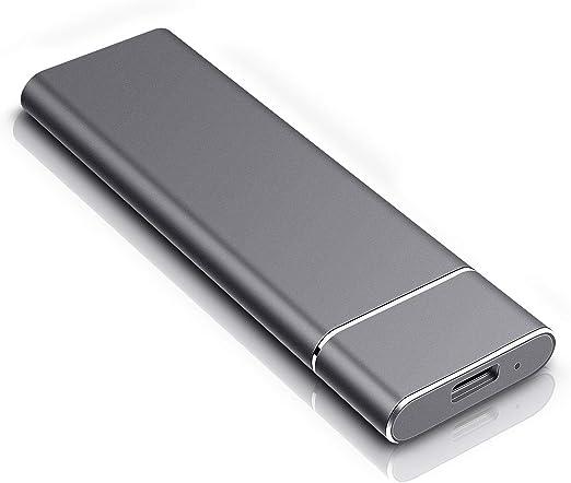 外付けHDD1TB、ポータブルHDD超スリムポータブルHDDUSB 3.1/Type-Cハードドライブ外付けPC、Mac、One Xbox、ノートパソコン用 1TB ブラック
