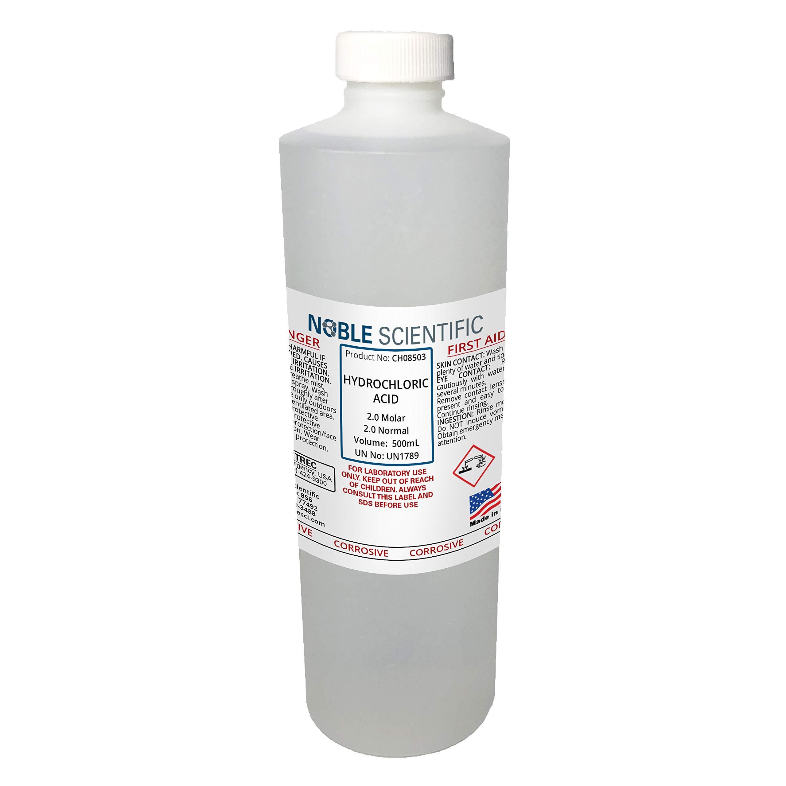 Hydrochloric Acid Solution, 2.0N (2.0M), 500mL