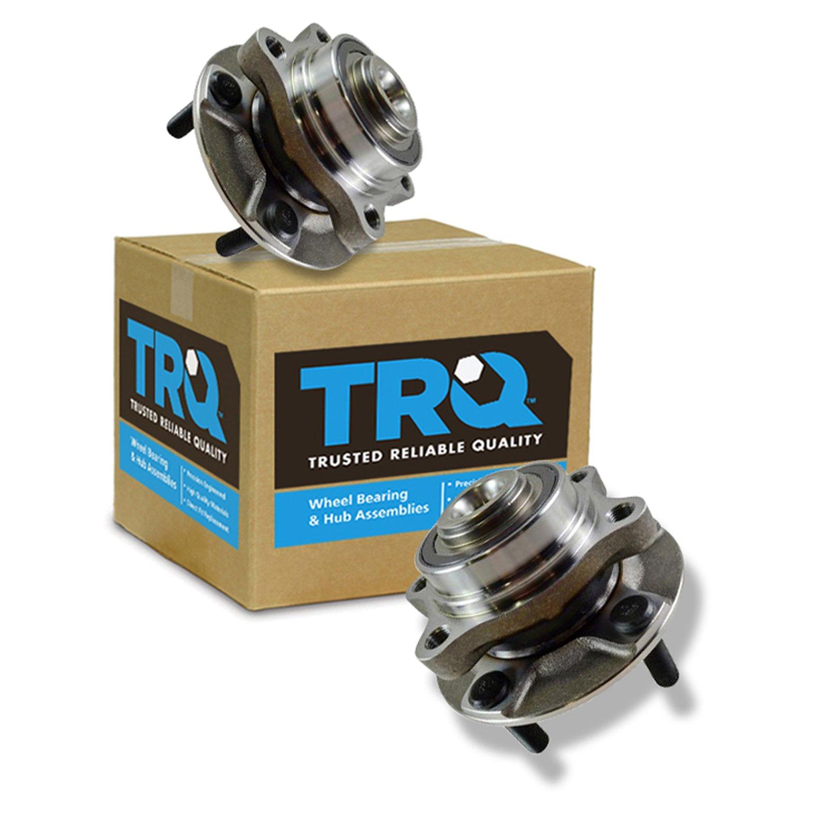TRQ Front Wheel Hubs & Bearings Left & Right Pair for Nissan 350Z Infiniti G35
