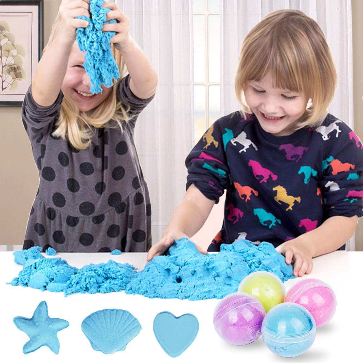 Meland Cloud Slime 10.5 OZ Snow Fluffy Cloud Slime Cotton Slime for Kids and Adults - 4 Colors (Blue, Purple, Yellow, Pink) by Meland (Image #6)