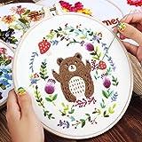 Solider Starter Kit Snowman Flower Embroidery Hoop Cross Sewing Tool Set DIY Cross Stitch Series Art Crafts Sewing…