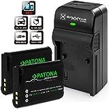 Baxxtar Razer 600 Ladegerät 5 in 1 mit 2x Patona Premium Akku für Nikon EN-EL23 (echte 1850mAh)
