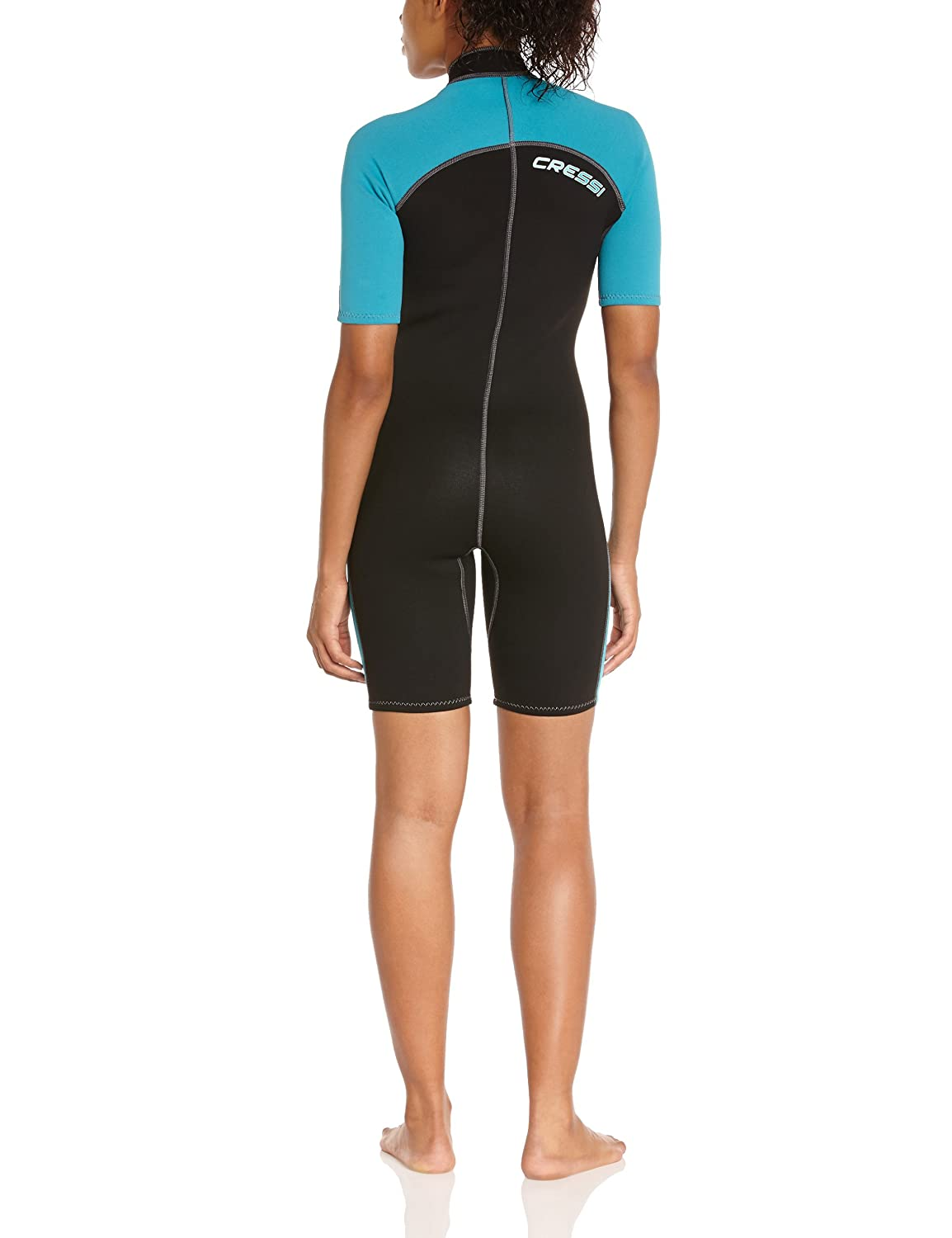 Womens Short Front Zip Wetsuit for Surfing, Snorkeling, Scuba Diving - Lido Short by Cressi: quality since 1946