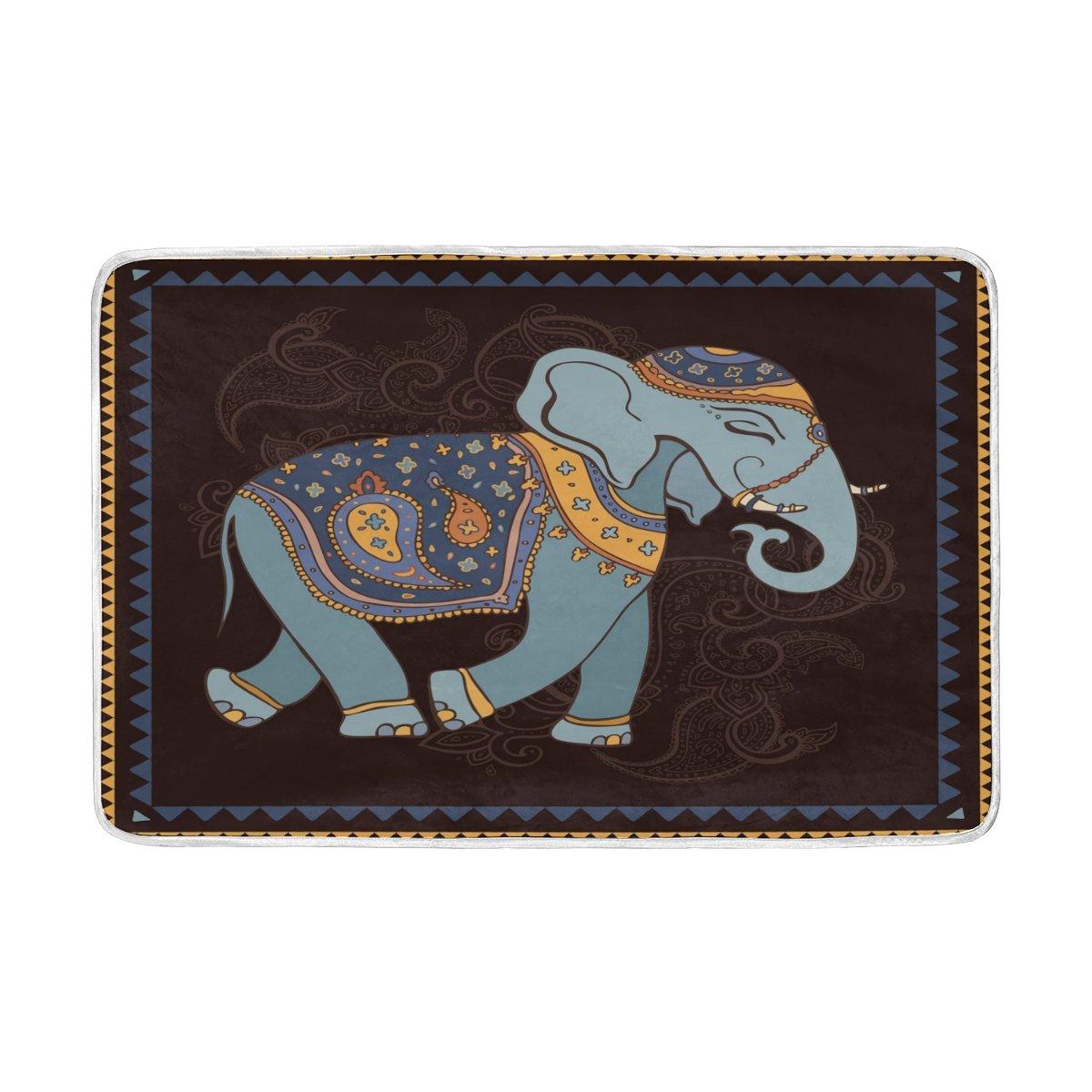 ALAZA Elephant Stylish Blanket Animal Luxury Throw Personalized Stylish Fuzzy Soft Warm Lightweight Blanket for Bed Counch All Season Unisex Adult Men Women Boys Girls 60x90 inches