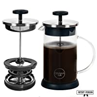 Osaka French Press Coffee and Tea Maker – Patent-Pending, Vacuum Insulated Stainless...
