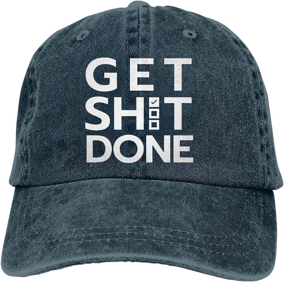Get Shit Done 2-1 Unisex Custom Jeans Hip Hop Cap Adjustable Baseball Cap