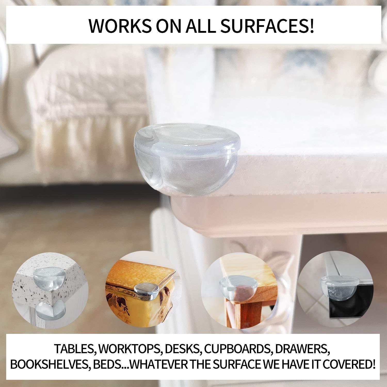 Yooger Lot de 20 prot/ège-coins en silicone transparent pour protection des enfants table et meubles