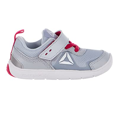 42e6f9c85fe5 Reebok Kids Baby Girl s Ventureflex Stride 5.0 (Toddler) Cloud Grey Pink  Craze White Athletic Shoe  Buy Online at Low Prices in India - Amazon.in