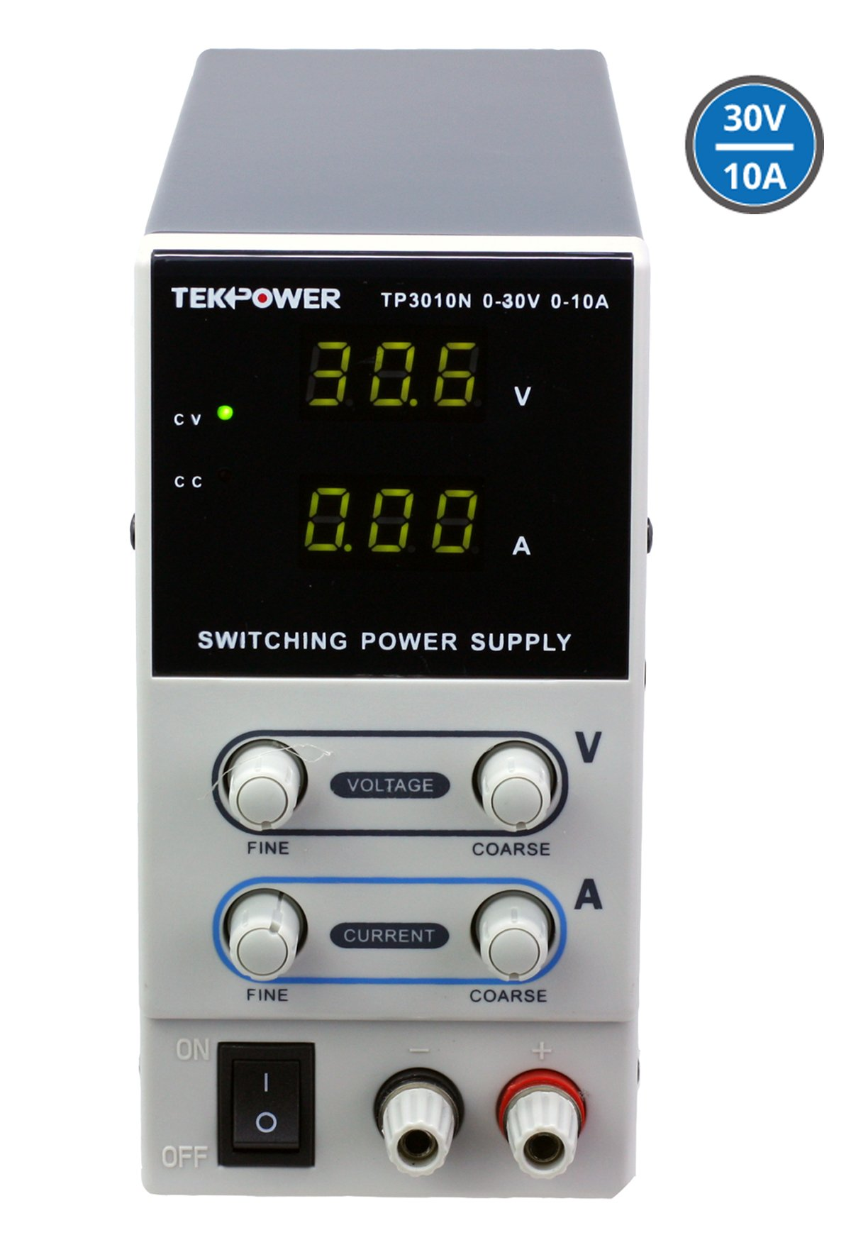 Tekpower TP3010N Regulated DC Variable Power Supply, 0-30V at 0-10A