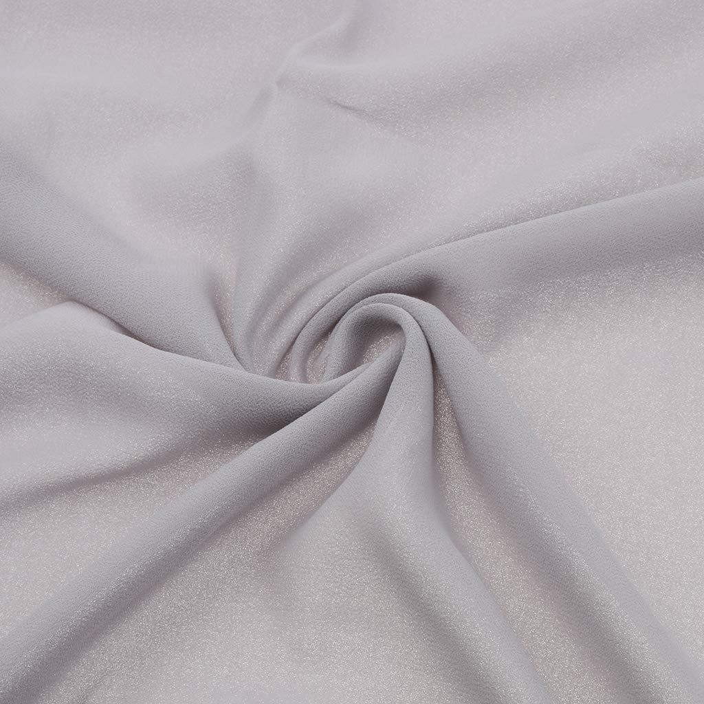 Baoblaze Sciarpa Di Chiffon Di Bolla Hijab Pianura Maxi Foulard Islamico Sciarpe Scialle