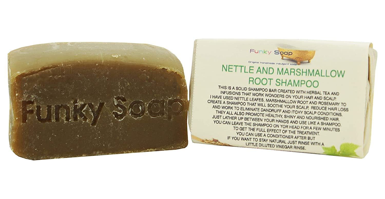 Handcrafted Marshmallow Root and Nettle Shampoo Bar 65g