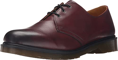 TALLA 45 EU. Dr. Martens 1461 Cherry Red Antique Temperley, Mocasines Unisex Adulto