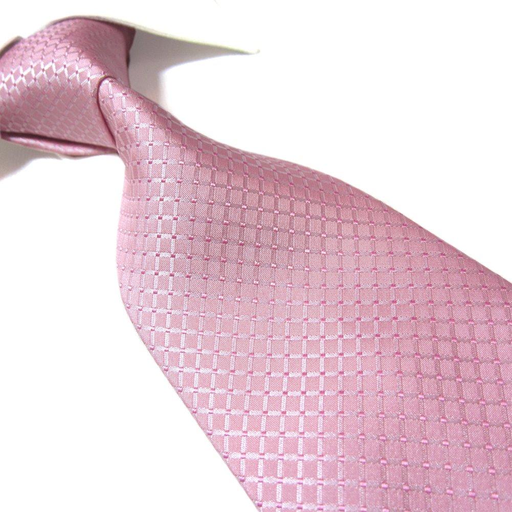 Extra Long Fashion Tie Plaid Men's Woven Jacquard Handmade Necktie 63 PL404