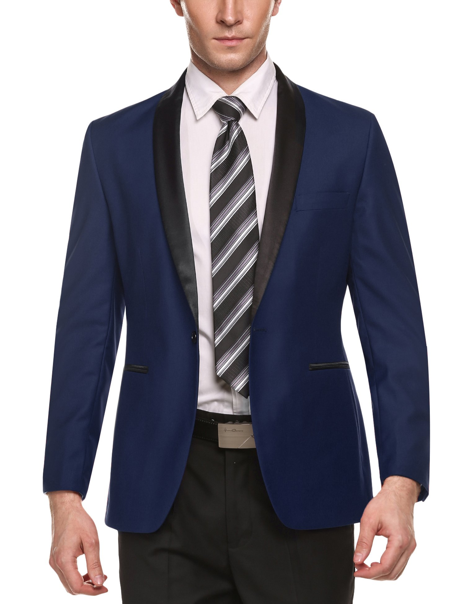 COOFANDY Men's Slim Fit Blazer Jacket Casual One Button Suit Coat