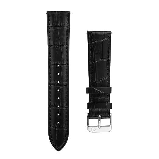 Hombres de intercambiables negro piel de cocodrilo 20 mm Correa para reloj - Compatible con Daniel Wellington, MVMT relojes: Amazon.es: Relojes