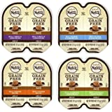 Nutro Perfect Portions Grain-Free Soft Loaf Cat Food 4 Flavor 8 Can Variety Bundle, (2) Each: Turkey & Liver, Salmon & Tuna,