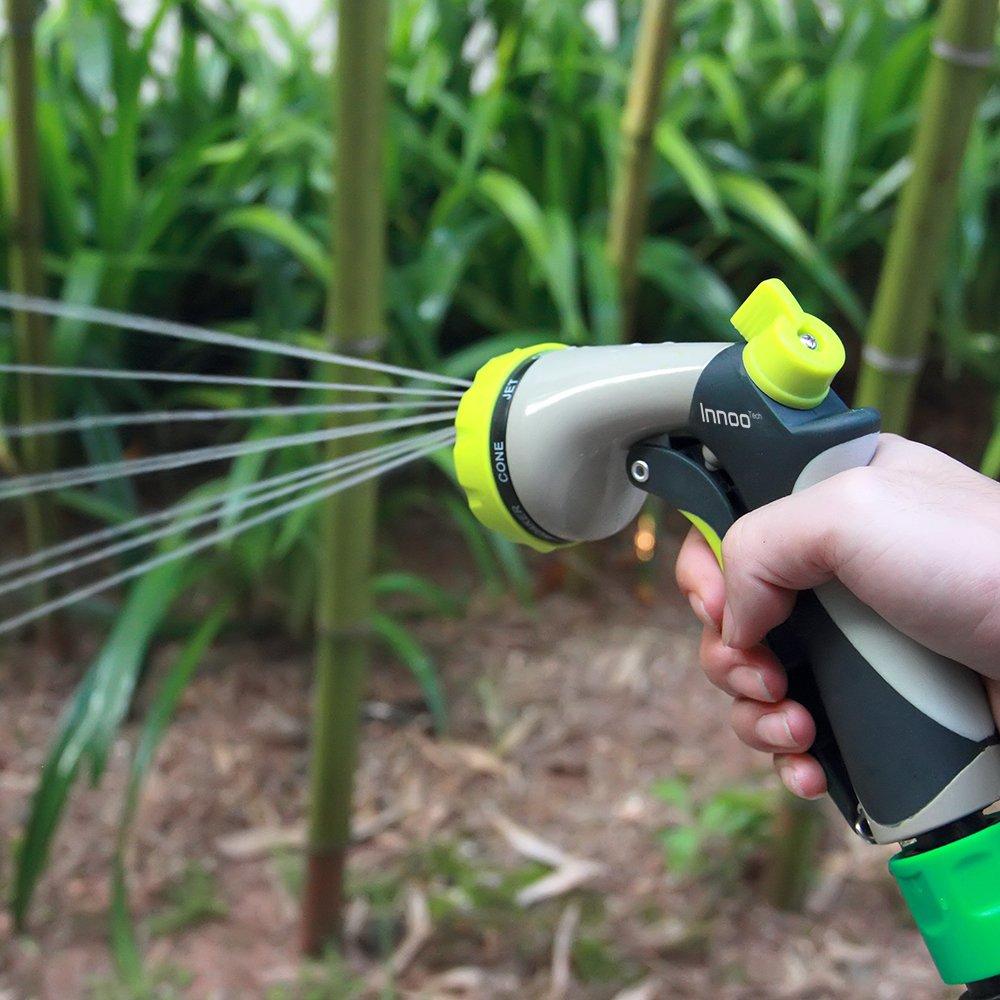 Amazon.com : Innoo Tech Garden Hose Nozzle 8 Spray Modes High Pressure Hand  Sprayer For Car Washing, Dog Washing, Flowers, Gardening : Garden U0026 Outdoor