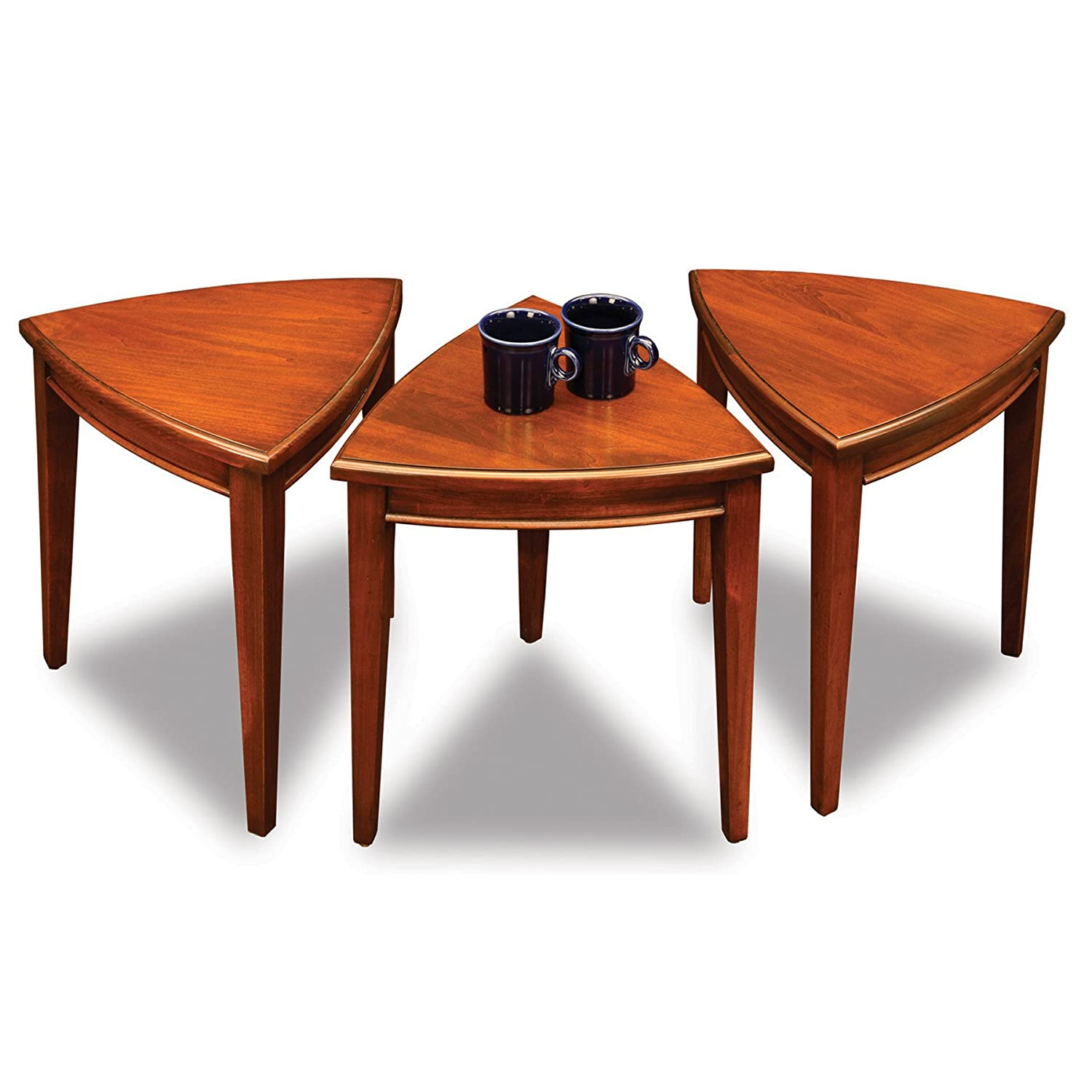 Amazon Leick Shield Stacking Corner Table Set Nutmeg