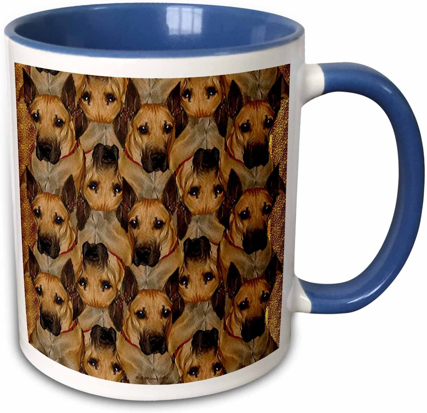 3drose Sandy Mertens Funky Designs Great Dane Tessellation 11oz Two Tone Blue Mug Mug 48749 6 Amazon Ca Home Kitchen