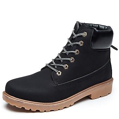 ukStore Damen Herren Worker Boots Schnür Stiefeletten Herbst Winter Outdoor  Warme Gefütterte Winterstiefel Wasserdicht Stiefel, 0ff9807359