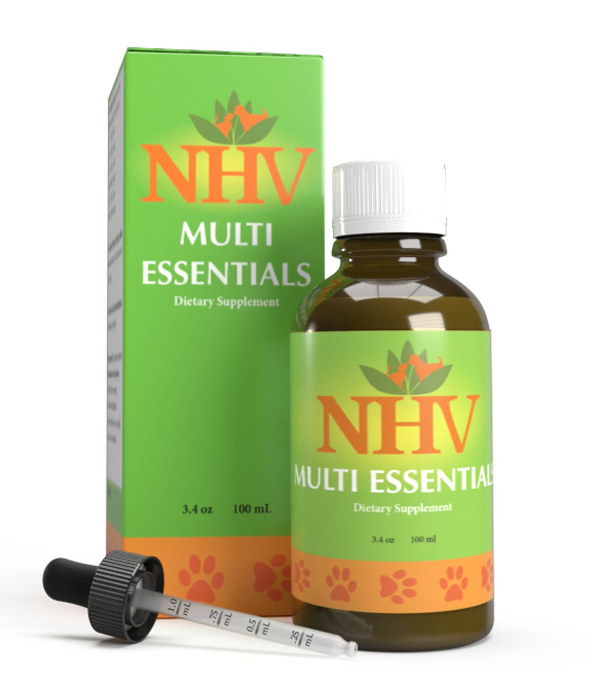 NHV Pet Multivitamin For Dogs & Cats | Natural Energy Booster Multivitamin Multi Essentials by NHV