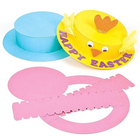 ae967c0ef40b5 Baker Ross Kits de Sombreros de Pascua de Colores Manualidades Creativas para  Niños Fiestas Infantiles de