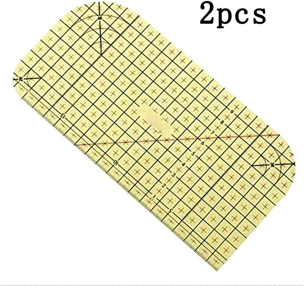 2PCS Hot Ironing Fabric Ruler,2010cm Sewing Patchwork Ruler,DIY Measuring Tool for Craft Clothes Sewing