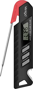 Meat Food Thermometer for Grill and Cooking, Instant Read Digital Waterproof Kitchen Thermometer for Grilling Smoker Oil Deep Fry