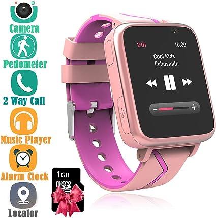 Niños Musica Smartwatch Phone, Reloj Inteligente MP3 con ...