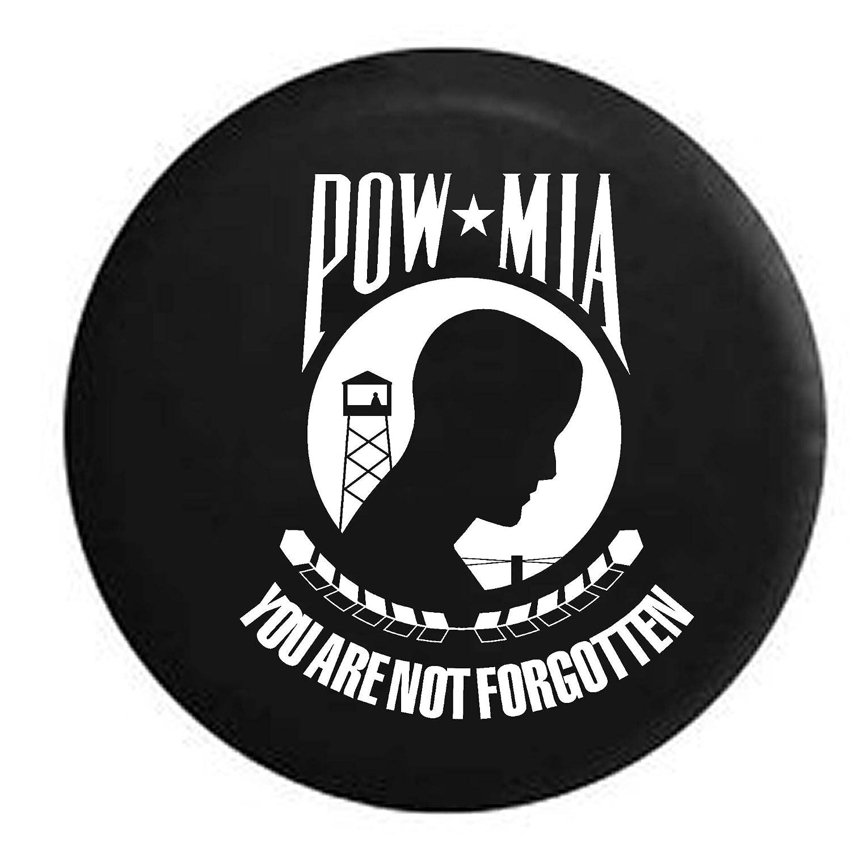POW MIA Military Vietnam Veteran War Tribute RV Spare Tire Cover OEM Vinyl Black 27.5 in