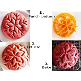 "Snowflake Bread Roll Stamp 3"" diameter Bread Shaper for Christmas Bread Rolls Concha Bread Stamp"