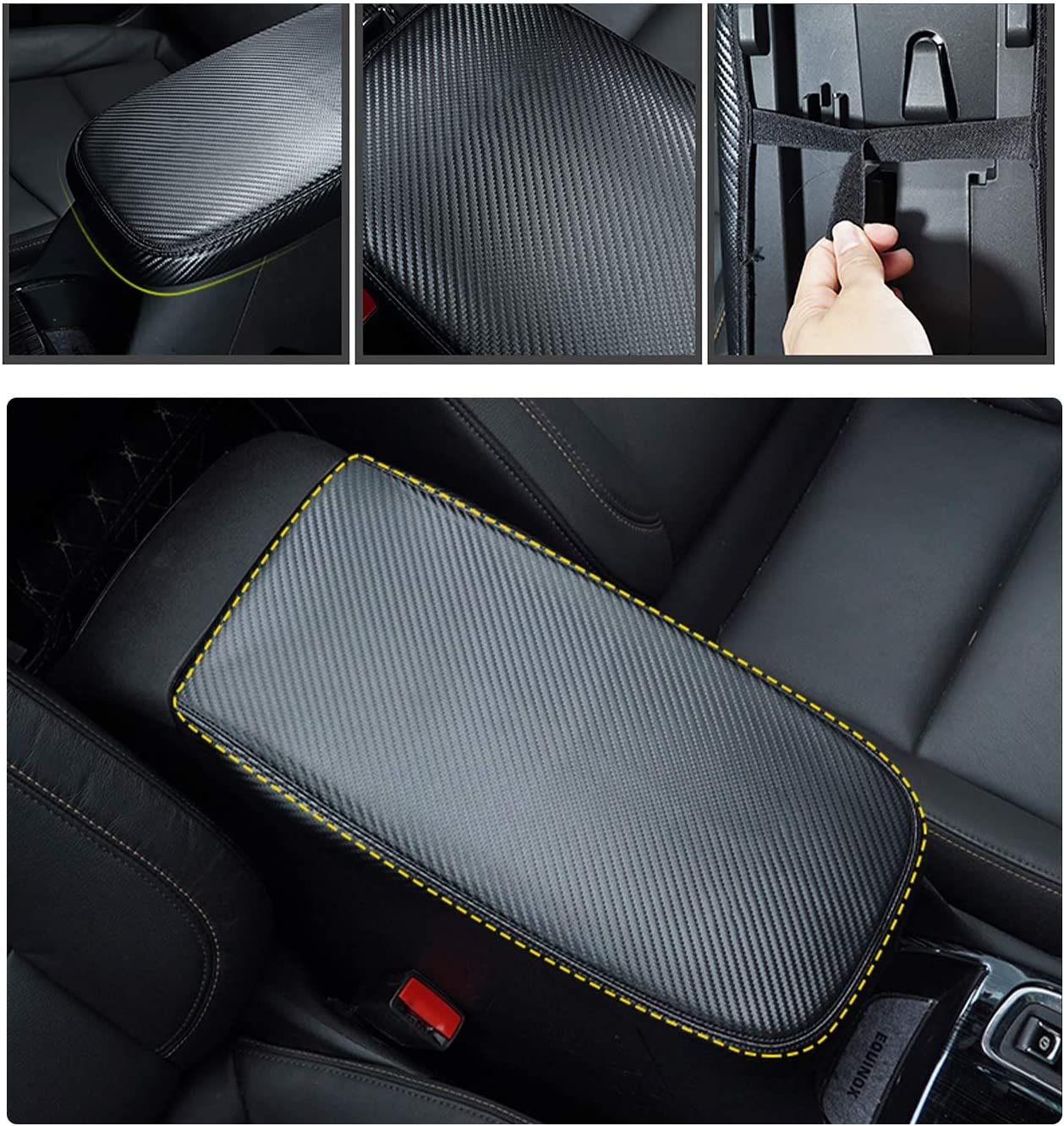Black YEE PIN Car Center Console Lid Armrest Cover Protector Fit for 2019 2020 RAV4 XA50 Center Console Armrest Box Scratch Resistance