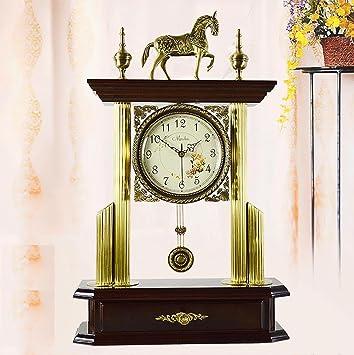 Liu Tischuhr Europäische Antike Moderne Messing Zubehör Uhr Dekoration Wohnzimmer  Schlafzimmer Mute Bracket Uhr, Coffee