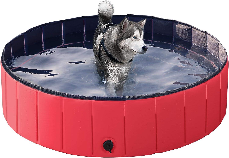 Yaheetech Piscina para Perros Bañera Plegable Mascota Piscina de ...