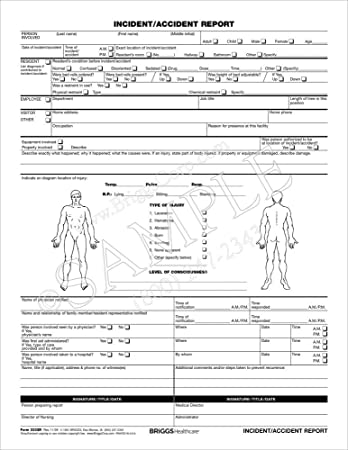 medical incident report forms