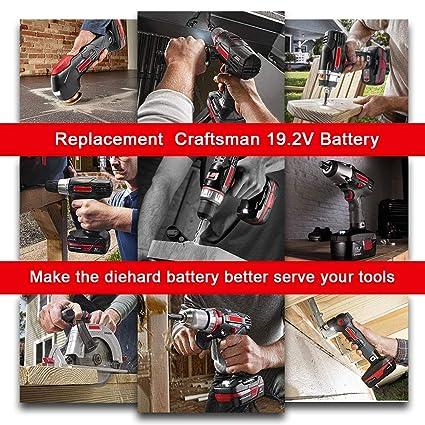 2Packs 19 2V 3 6Ah Replacement Battery for Craftsman DieHard C3 315 115410  315 11485 130235021 130235021