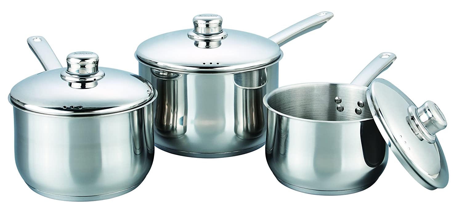 18 AND 20CM BUCKINGHAM PRESTIGE INDUCTION SAUCEPAN STAINLESSSTEEL AVAILABLE 16