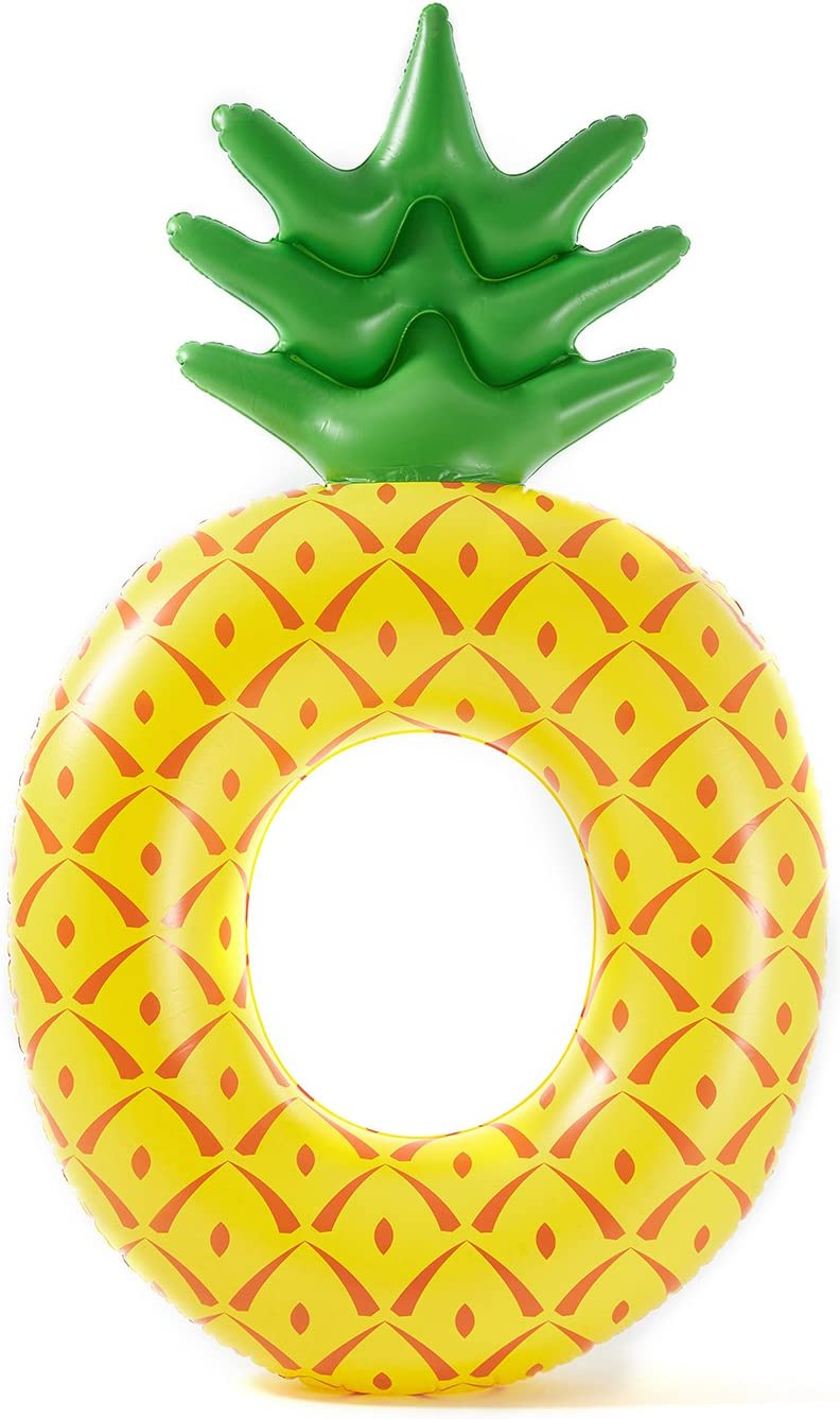 Luxy Float Giant Inflatable Pineapple Pool Float for Adults & Kids