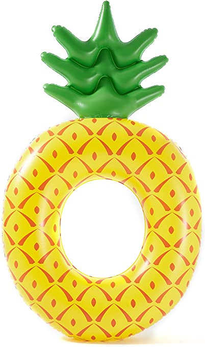 Luxy Float Giant Inflatable Pineapple Pool Float for Adults /& Kids