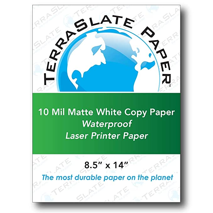 amazon com terraslate paper 10 mil 8 5 x 14 waterproof laser