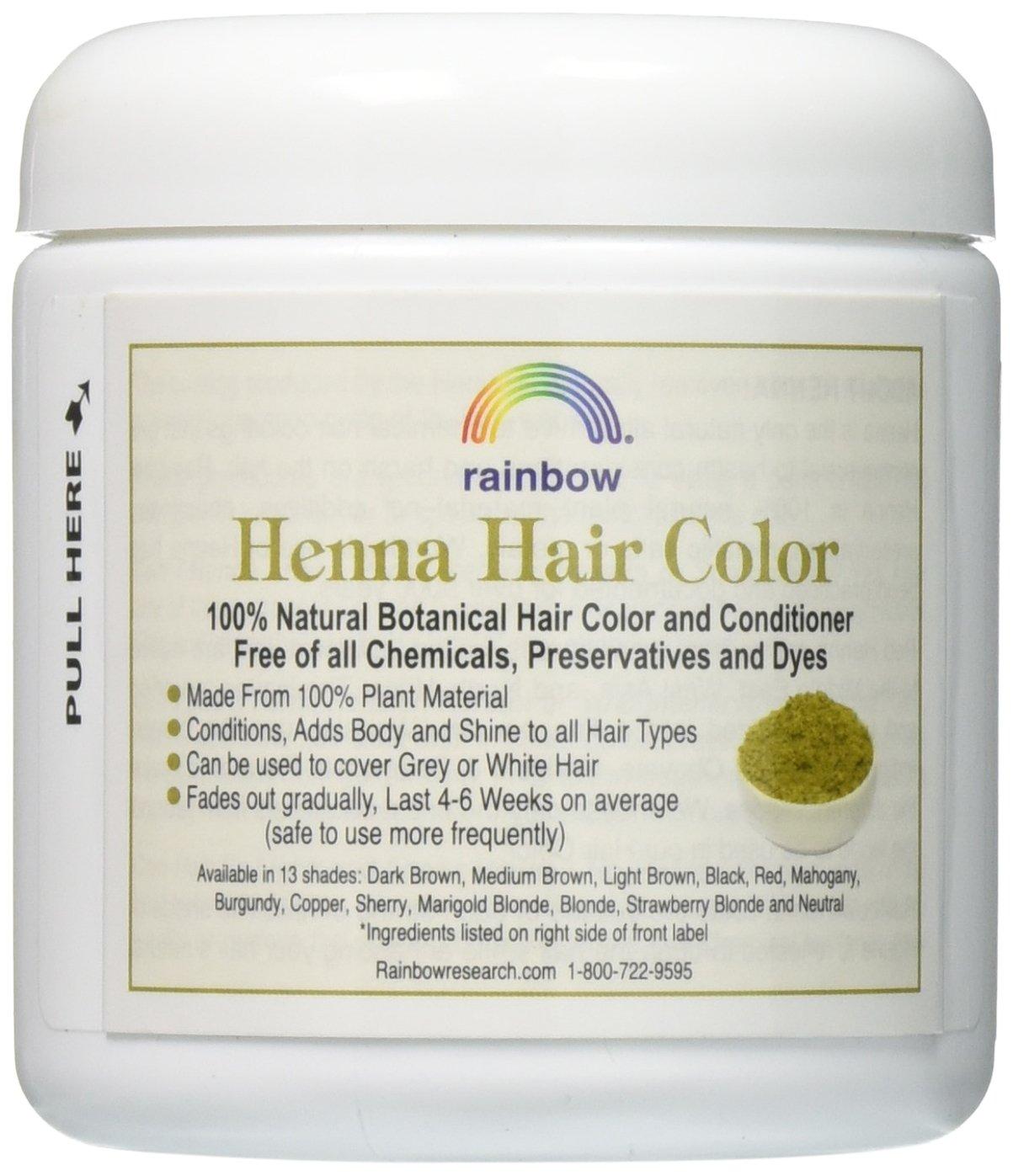 Amazon Rainbow Research Henna Persian Light Brown 4 Oz Pack