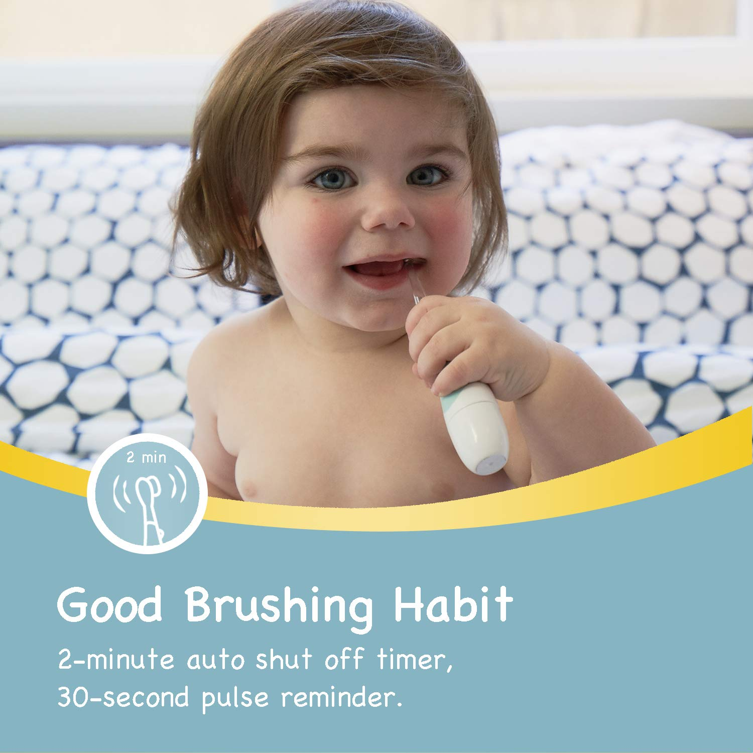 Papablic BabyHandy 2-Stage Sonic Electric Toothbrush for Babies and Toddlers Ages 0-3 Years by Papablic (Image #3)