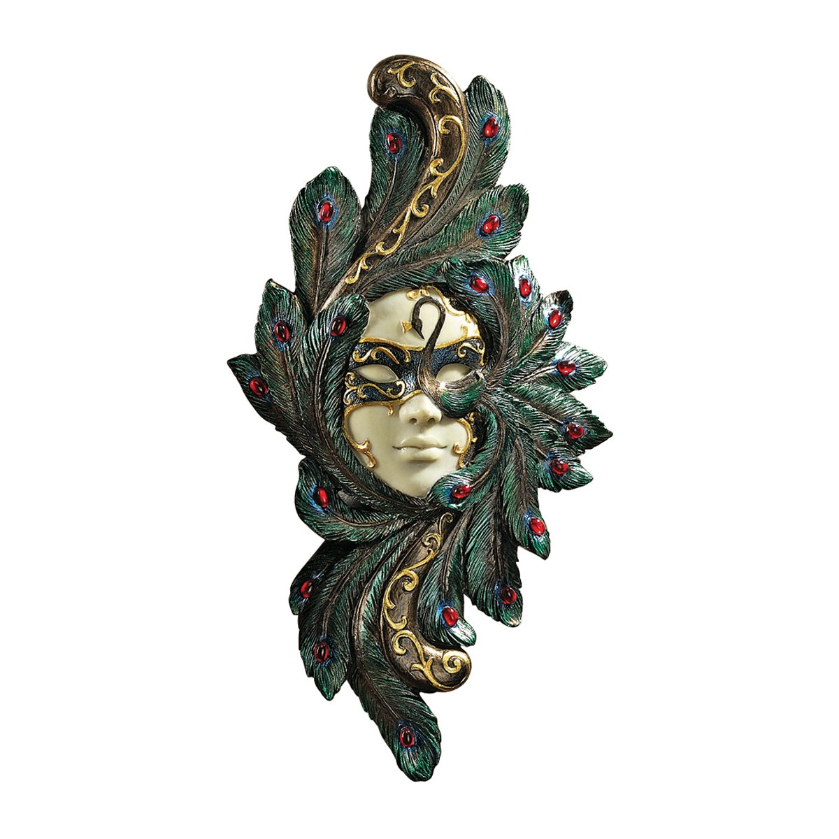 Design Toscano PD2278 Scultura Murale Maschera per Mascherata di Carnevale, Contessa Alessandra