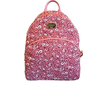 cfd947f728a0 Image Unavailable. Image not available for. Color: Michael Kors ABBEY Large  Floral Peach Backpack