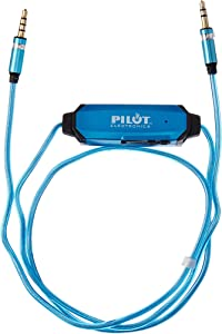 Pilot Electronics EL-1301BWK Auxiliary Music Sync Audio Cable, 3.5mm, Blue
