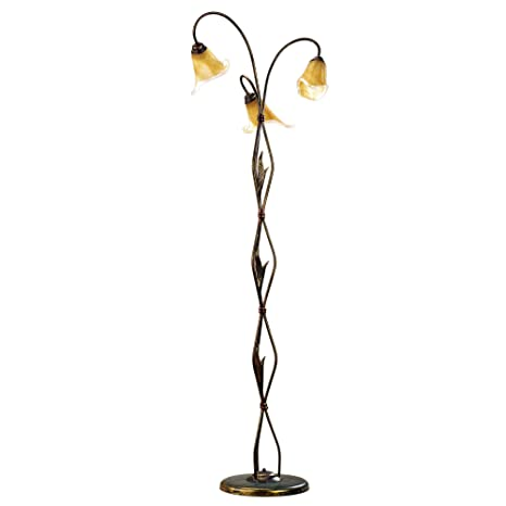 ONLI - Lámpara de pie lámpara de pie Alga 3 x E14. Metal ...