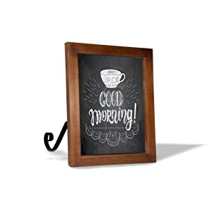 """TenXVI Designs Vintage Espresso Tabletop/Hanging Magnetic Chalkboard Sign for Kitchen Countertop, Weddings, Restaurants, Bars, Home Décor, Birthday Parties, Baby Announcements – 11""""x13"""""""