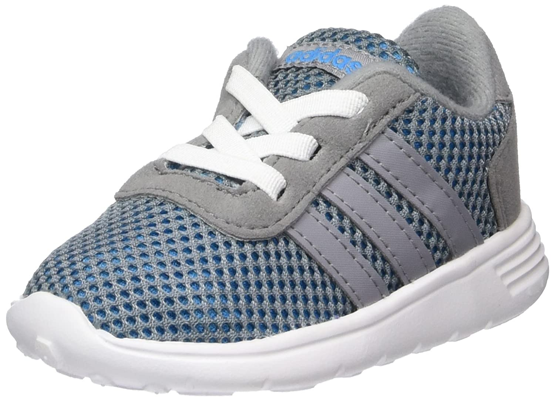 best service 06d80 ef7bb adidas NEO Lite Racer Infant Kids Fashion Trainer Shoe Grey Blue - UK 9   Amazon.co.uk  Shoes   Bags