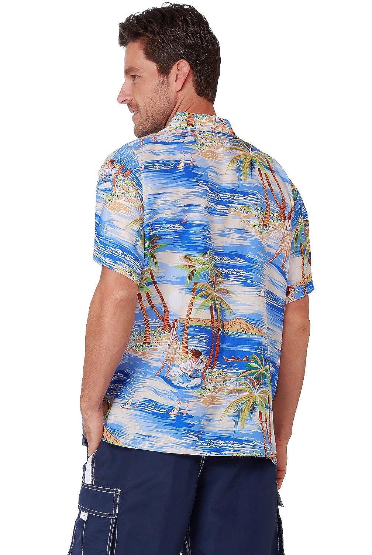 4a95908a88631 Men's Hawaiian Shirt Button Down Casual Aloha Shirt Short Sleeve Beach  Shirts